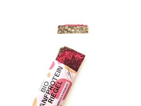 Bio-Hanfproteinriegel Himbeer-Erdnuss Crunch